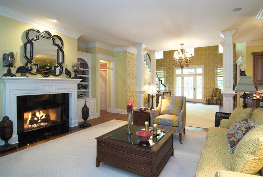 Yellow Theme Living Room Design