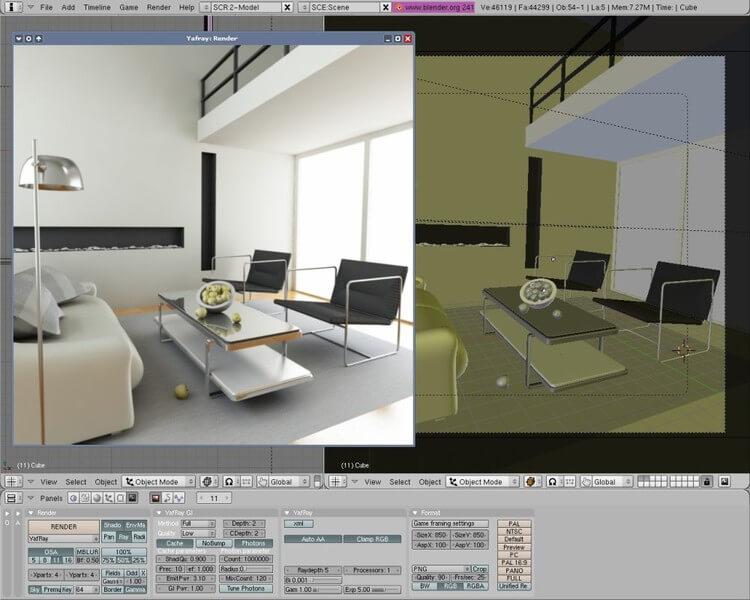Blender house design app