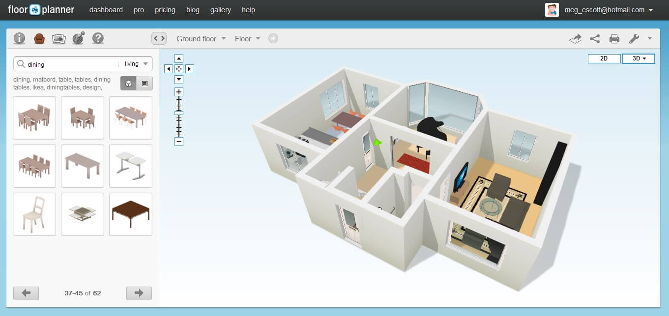 Elegant FloorPlanner Is A Software For Doing Free Home Design Online