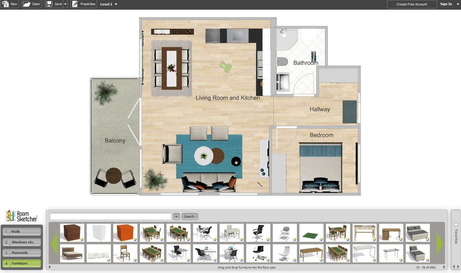 Top 10 software for designing the interior of your dream for Online plan rooms