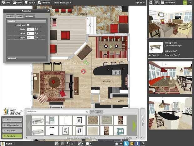 Top 10 best applications to make house plans news and for Online room design software