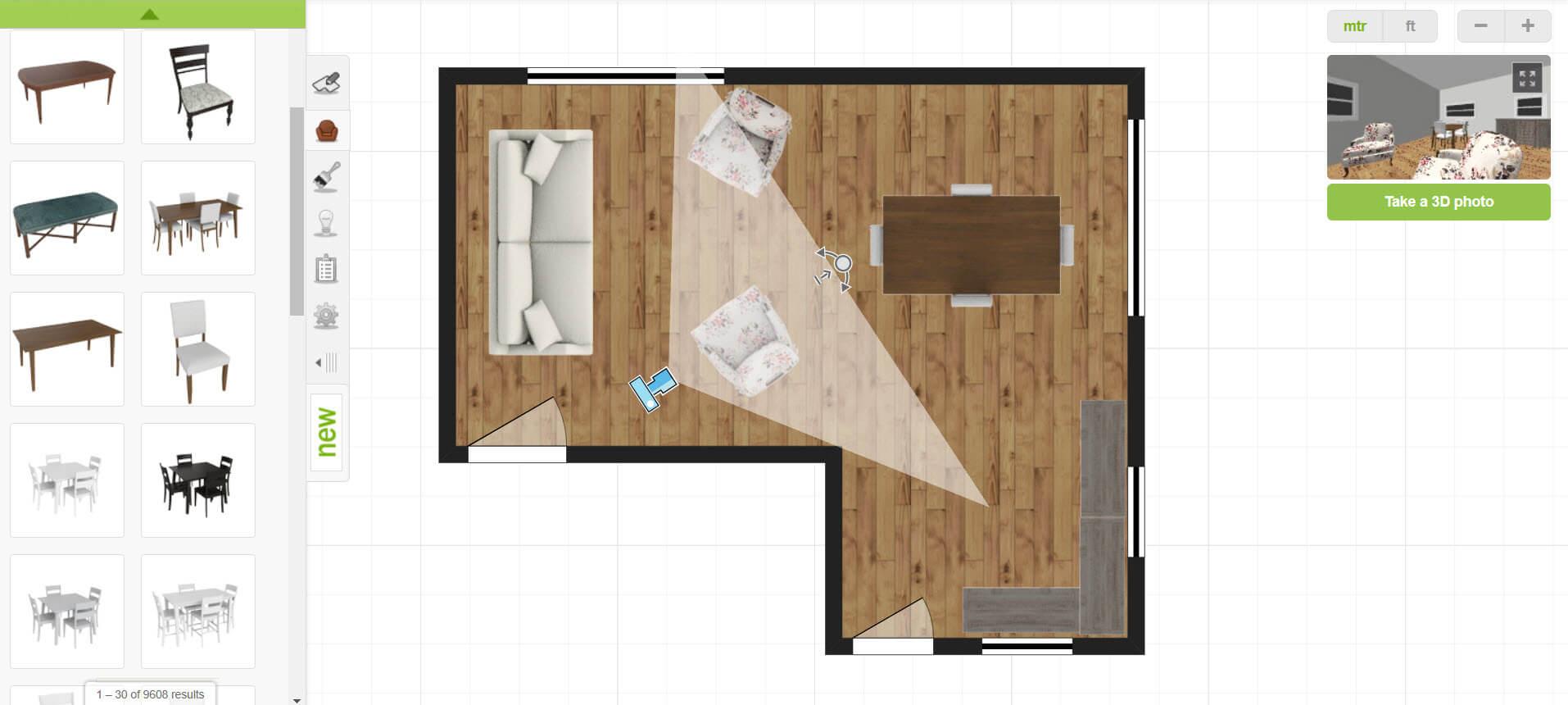 create online interior design with thousands of 3d furniture and appliance models. Black Bedroom Furniture Sets. Home Design Ideas