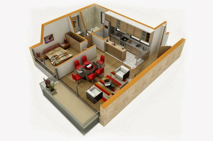 Small Department Design In 3D Design