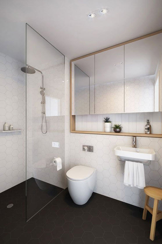 Minimalist bathroom design