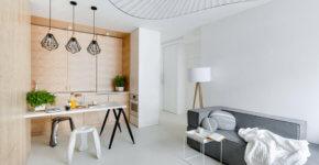 Minimalist duplex interior design