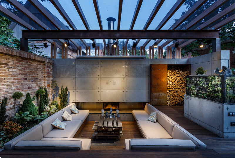 Outdoor terrace decoration