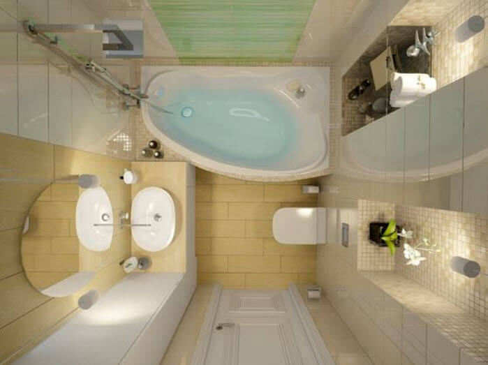 View Of Small Bathroom Floor Plan
