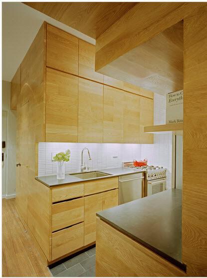 All natural wood kitchen design