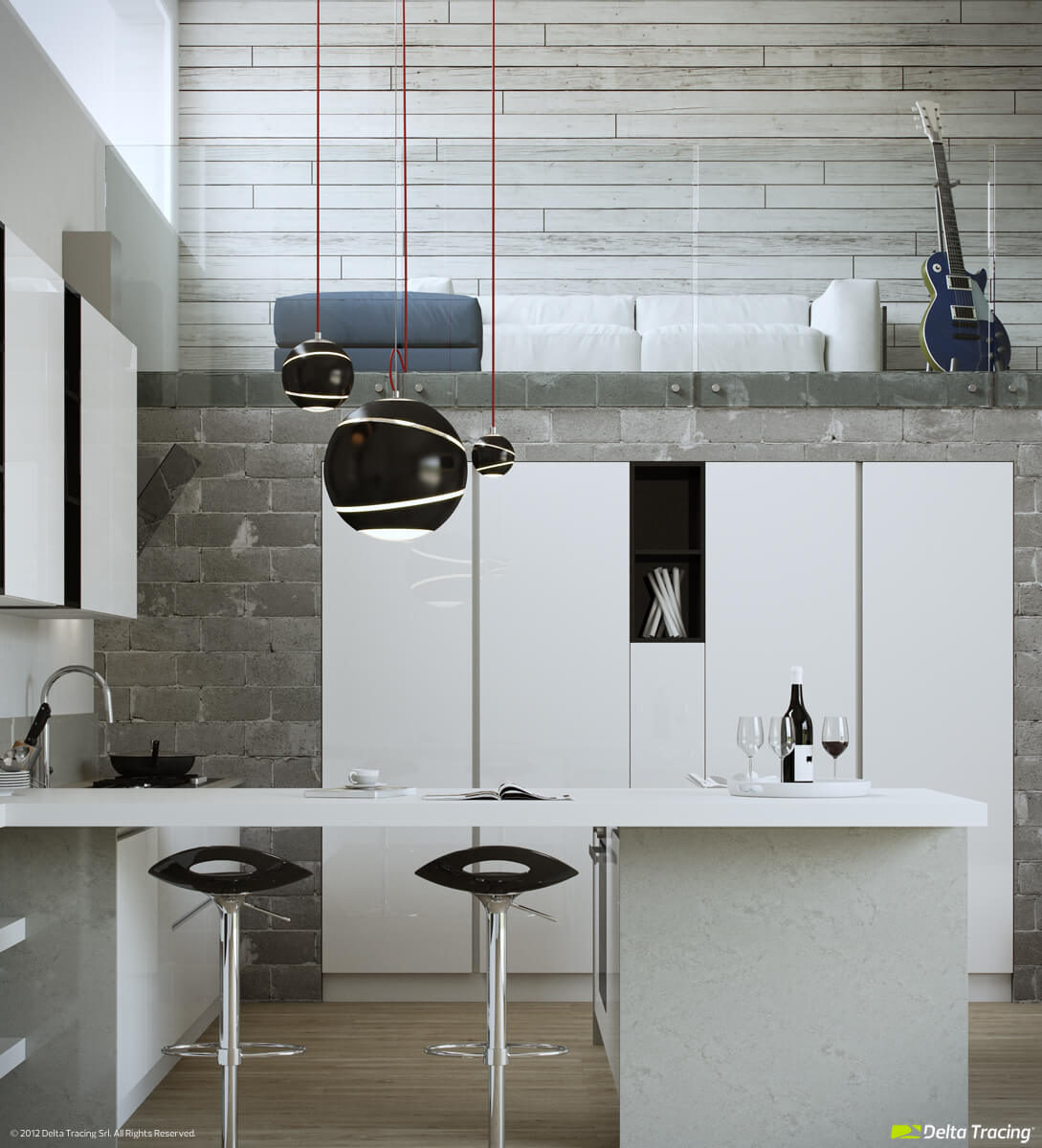 Black hanging lamps for kitchen dining room