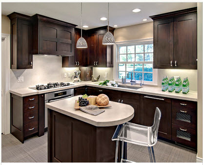 Classic L-shaped kitchen