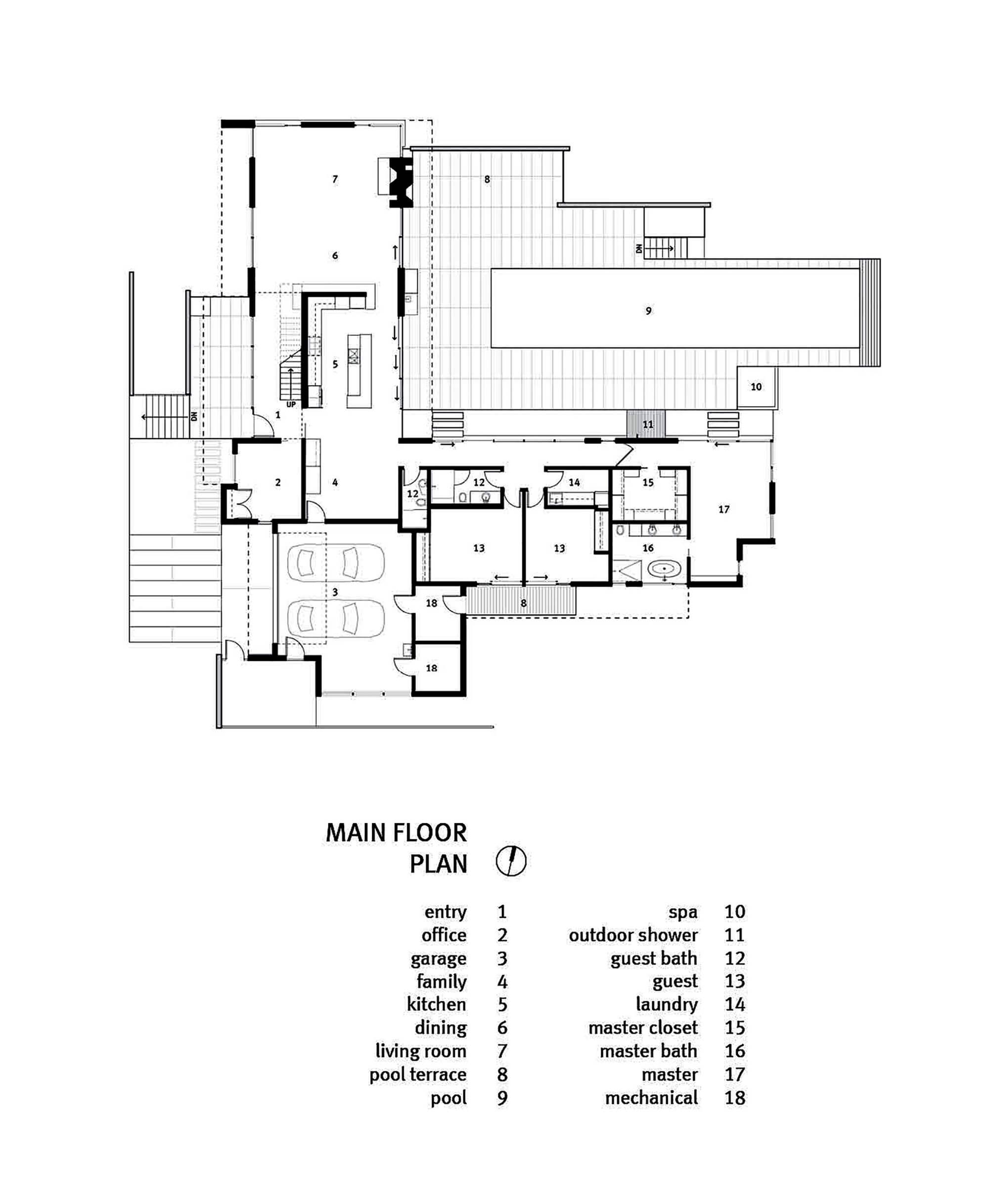 10 modern one story house design ideas discover the for Large 1 story house plans