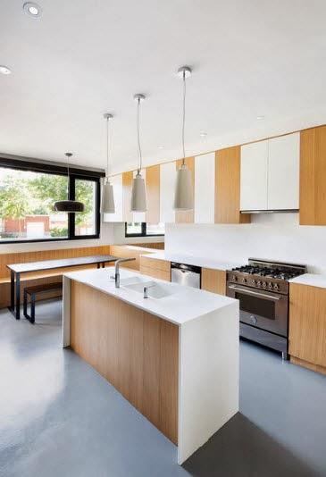 Minimalist island design for kitchen