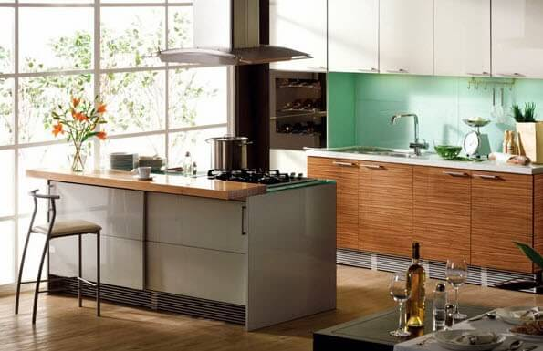 Modern kitchen island design