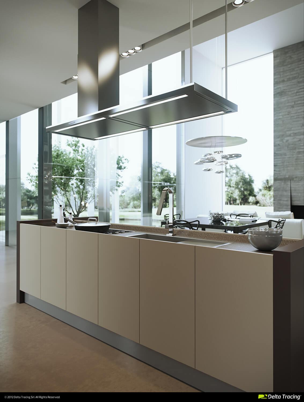 Modern well-lit kitchen