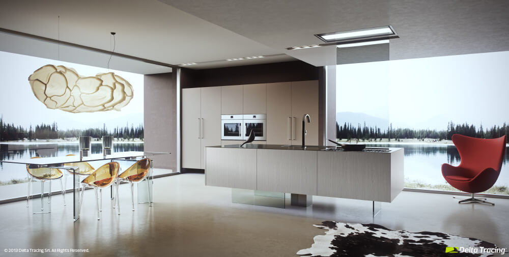 Natural and artificial kitchen lighting