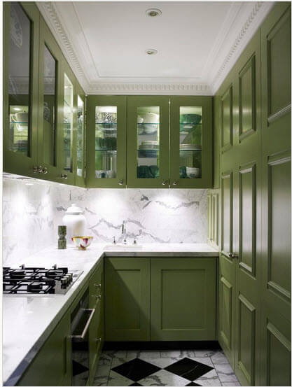 Small green kitchen design