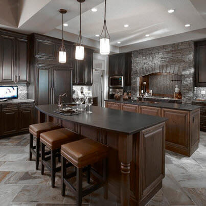 Ultra luxury kitchen with double islands