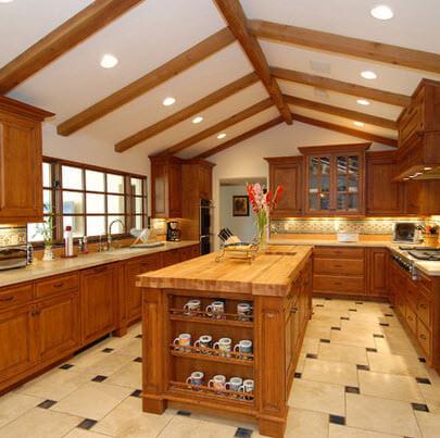beige ceramic floor with black color design