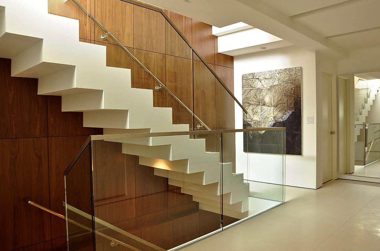 Modern Concrete And Glass Staircase