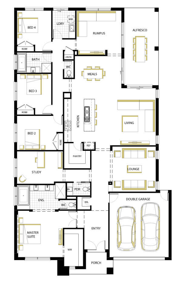 Modern One Story House Plan With Lots Of Natural Light: 10 One-Story House Designs