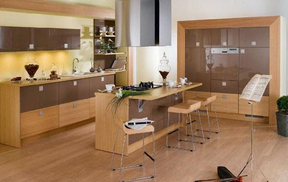 modern wooden kitchen island design