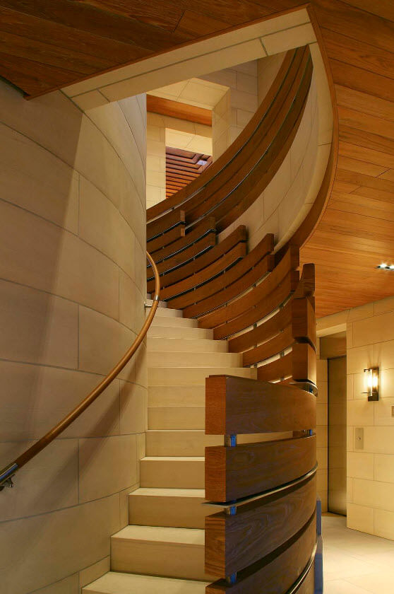 stairs railing wood original design