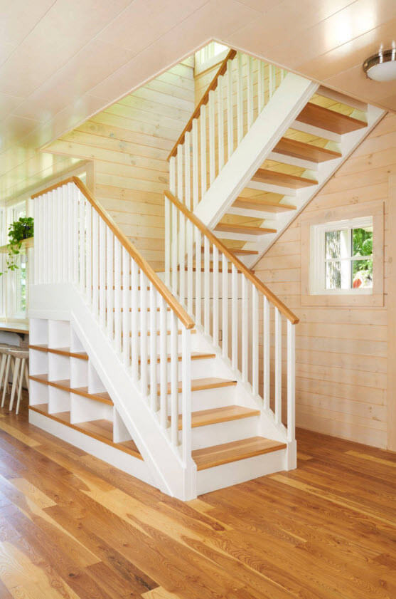 typical wooden stairs