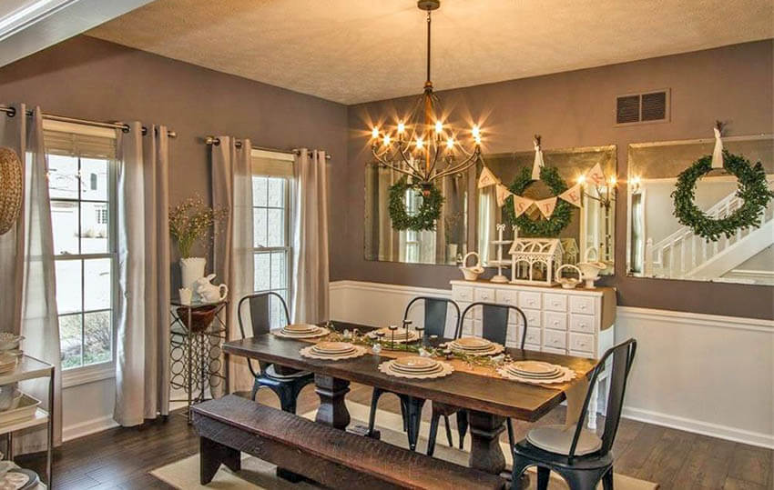 dining room with heartwood paint color