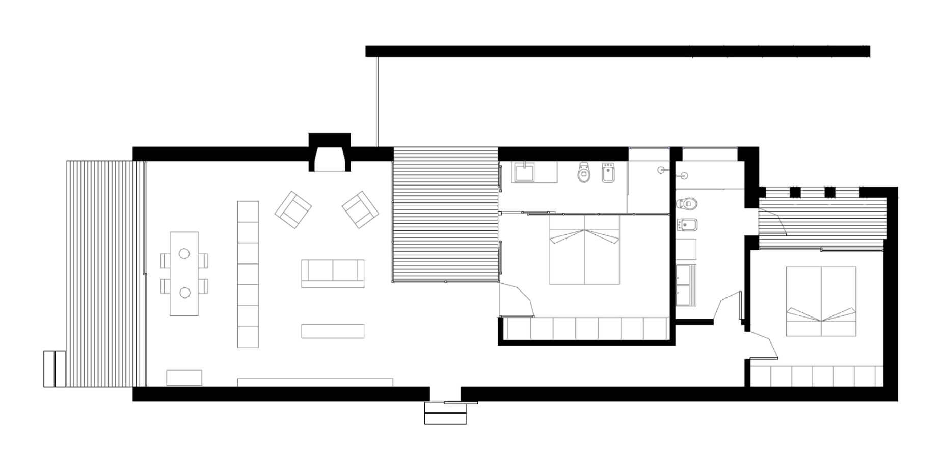 Small two-bedroom house plan